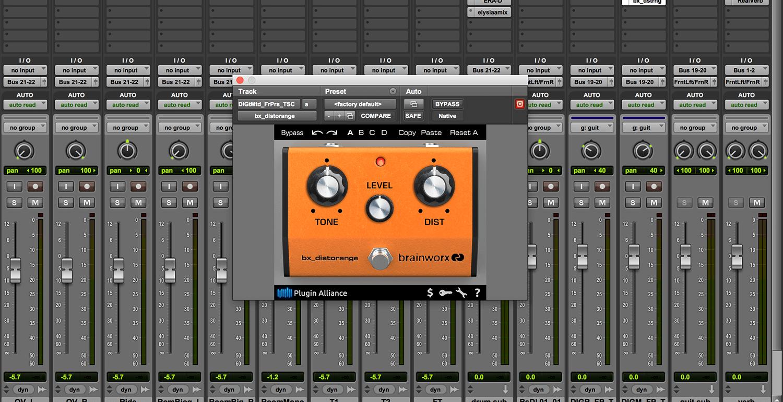 kvr brainworx bx distorange by plugin alliance guitar pedal emulation vst plugin audio units. Black Bedroom Furniture Sets. Home Design Ideas