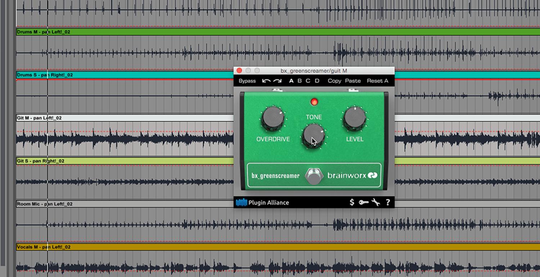 kvr brainworx bx greenscreamer by plugin alliance guitar pedal emulation vst plugin audio. Black Bedroom Furniture Sets. Home Design Ideas