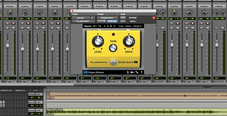 kvr brainworx bx yellowdrive by plugin alliance guitar pedal emulation vst plugin audio. Black Bedroom Furniture Sets. Home Design Ideas