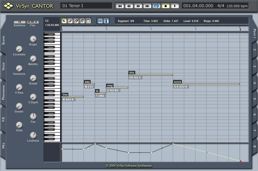 KVR: Cantor by VirSyn - Vocal Synth VST Plugin, Audio Units Plugin