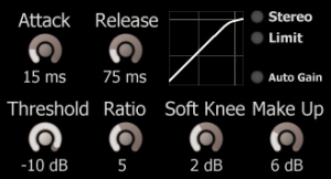 Lightweight Soft Knee Compressor