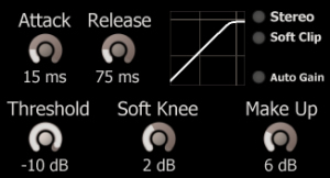 Lightweight Soft Knee Limiter