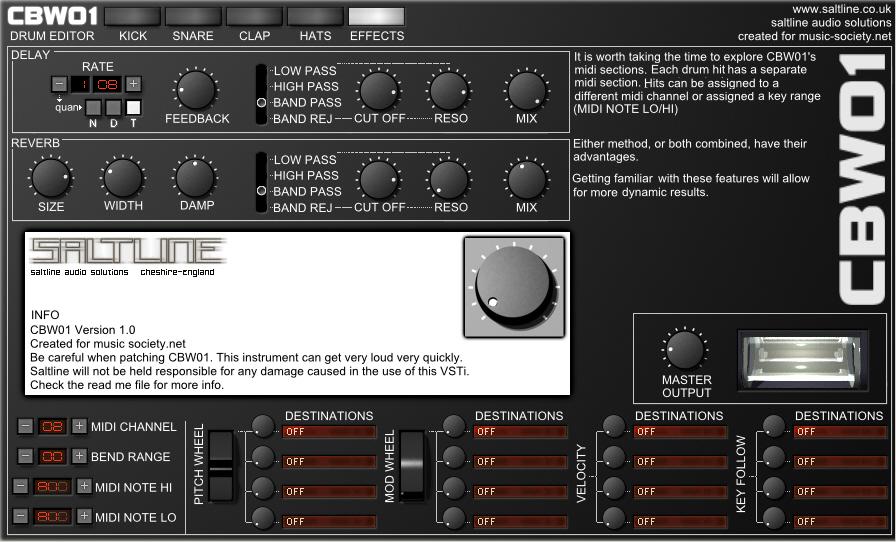 kvr saltline and music release cbw01 free vst drum machine for windows. Black Bedroom Furniture Sets. Home Design Ideas
