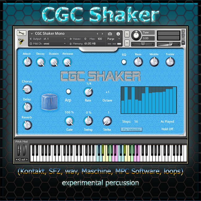 KVR: Boyss-Sound-e-Scapes releases CGC Shaker - Free Sample Library