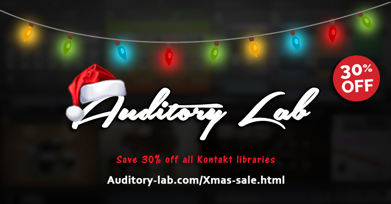 Auditory Lab Holiday Sale: Save 30% off all Kontakt libraries