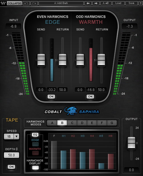 Kvr Cobalt Saphira By Waves Harmonic Shaper Vst Plugin