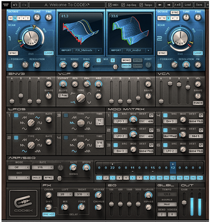 Kvr Codex Wavetable Synth By Waves Wavetable Synth Vst