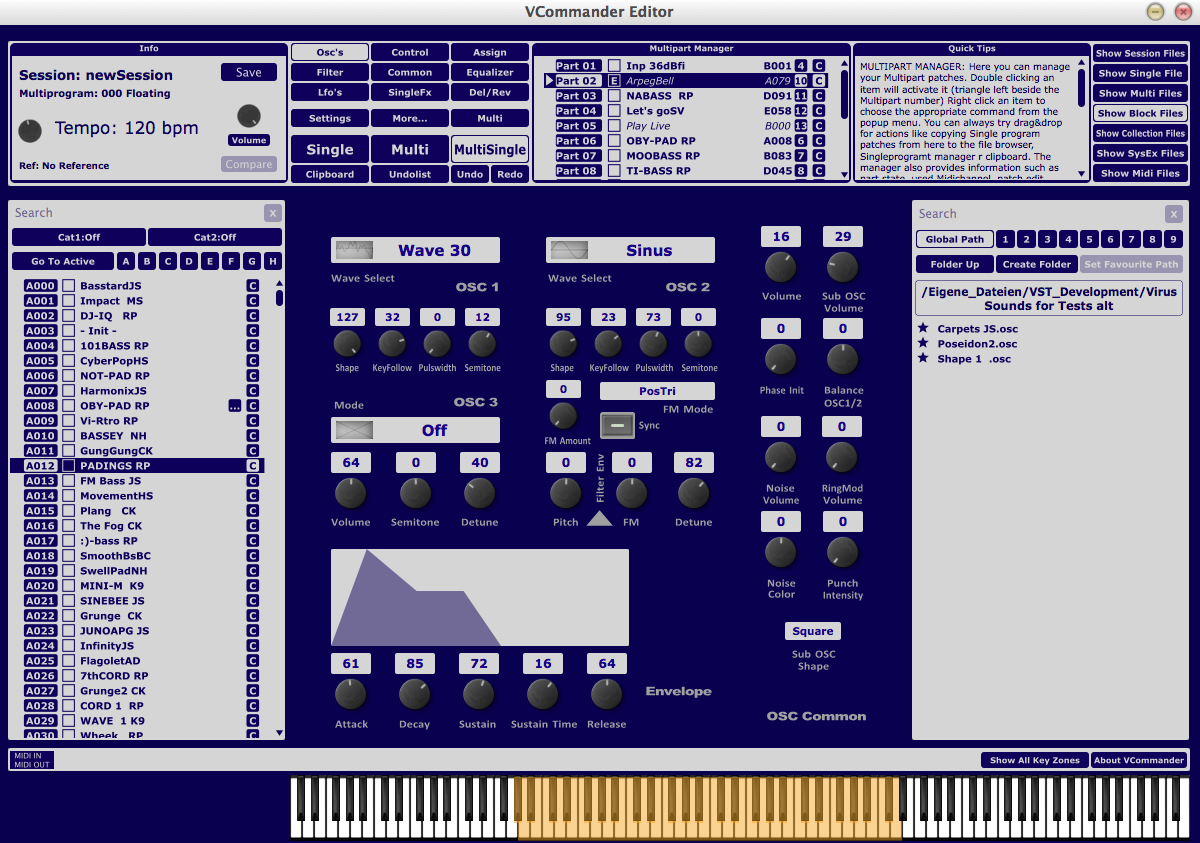 KVR: solar3d-software updates VCommander software editor/library for
