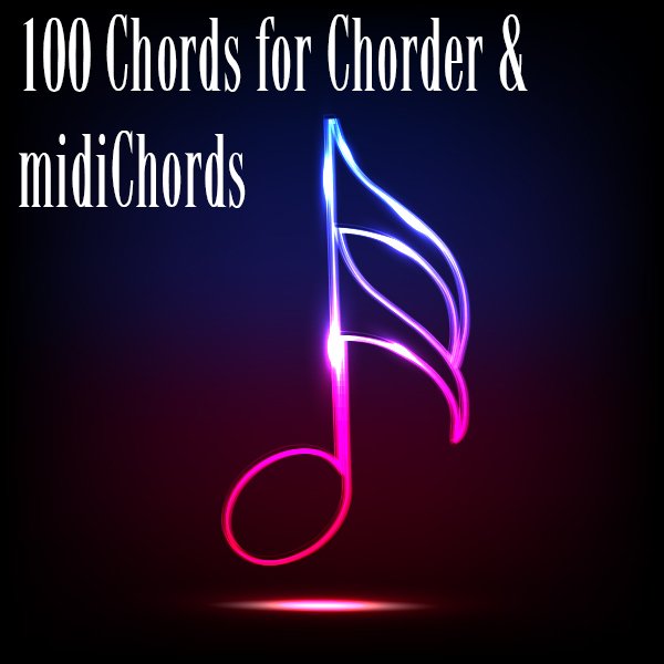 Kvr 100 Chords For Chorder Midichords By Sounds And Inspiration