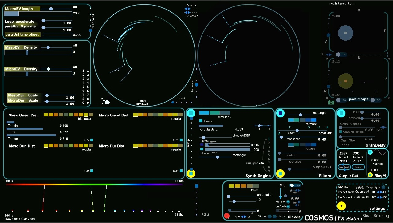 CosmosƒFx live input stochastic effect processor
