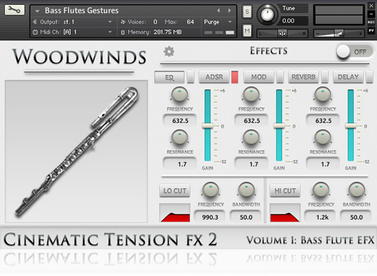 Cinematic Tension FX 2 - Volume 1 Bass Clarinets