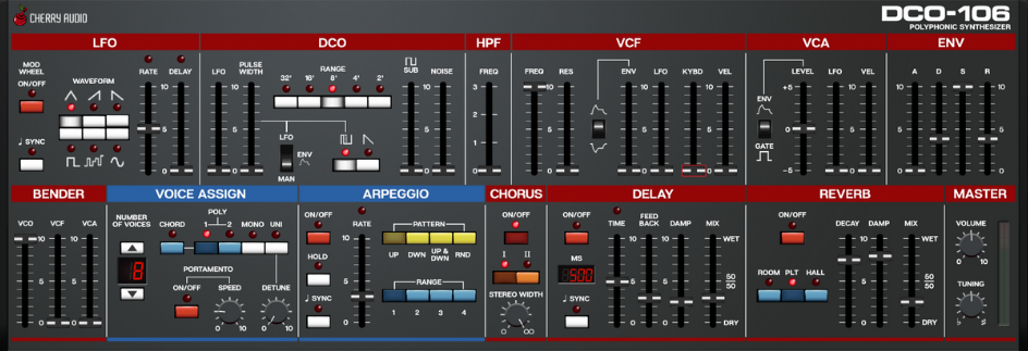 DCO-106 Virtual Polyphonic Synthesizer