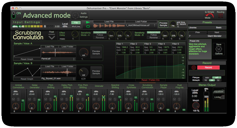 Dehumaniser Pro By Krotos Sound Design Plugin Host Vst Audio Unit