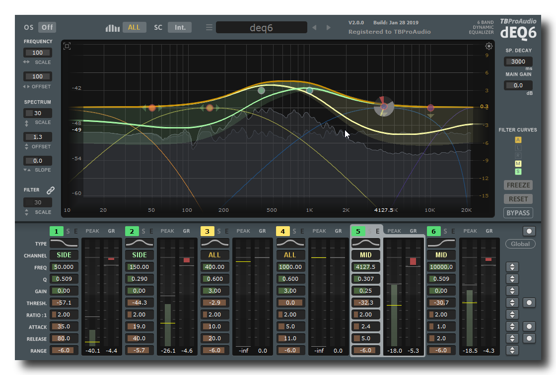 KVR: TBProAudio updates dEQ6 to v2 0 for Windows and Mac OS X