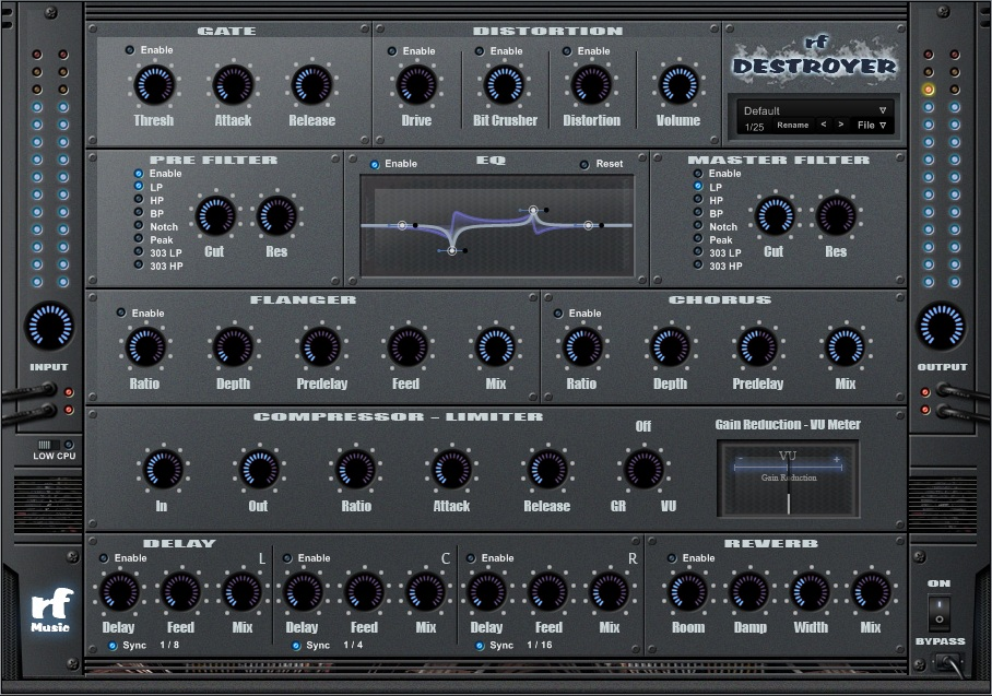 KVR: rf Destroyer by rf Music - Multi FX VST Plugin