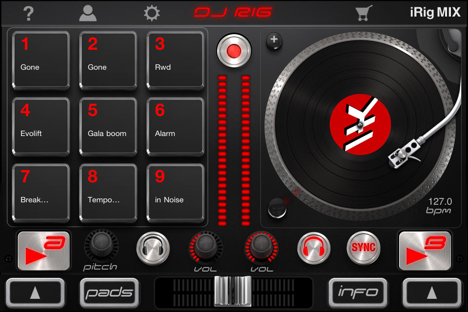 KVR: DJ Rig for iPhone by IK Multimedia - Professional DJ Mixing App