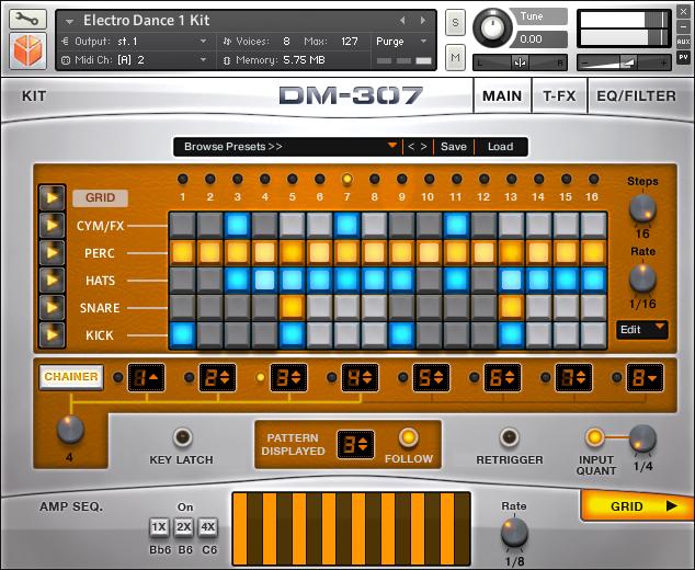 kvr dm 307 modern groove designer by heavyocity drum machine vst plugin audio units plugin. Black Bedroom Furniture Sets. Home Design Ideas