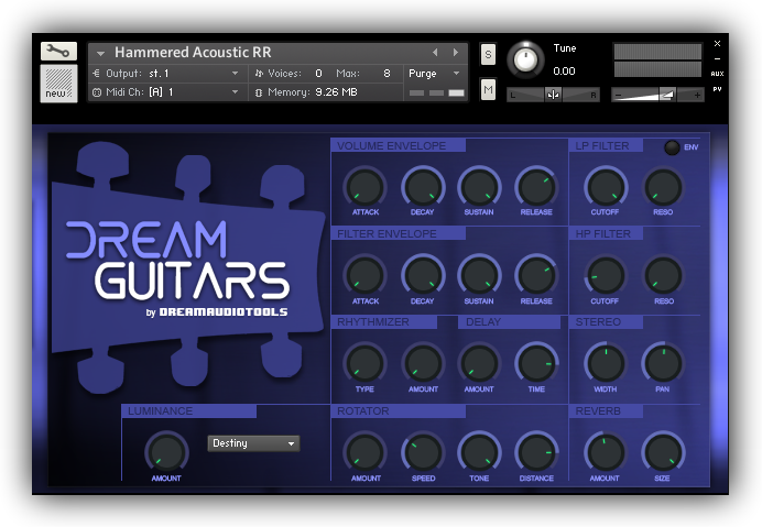 kvr dream audio tools releases dream guitars cinematic guitars for kontakt. Black Bedroom Furniture Sets. Home Design Ideas
