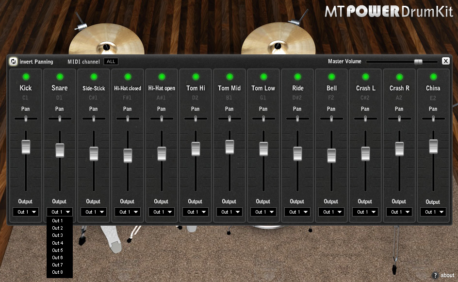 kvr mt power drum kit by manda audio drum sampler vst plugin and audio units plugin. Black Bedroom Furniture Sets. Home Design Ideas