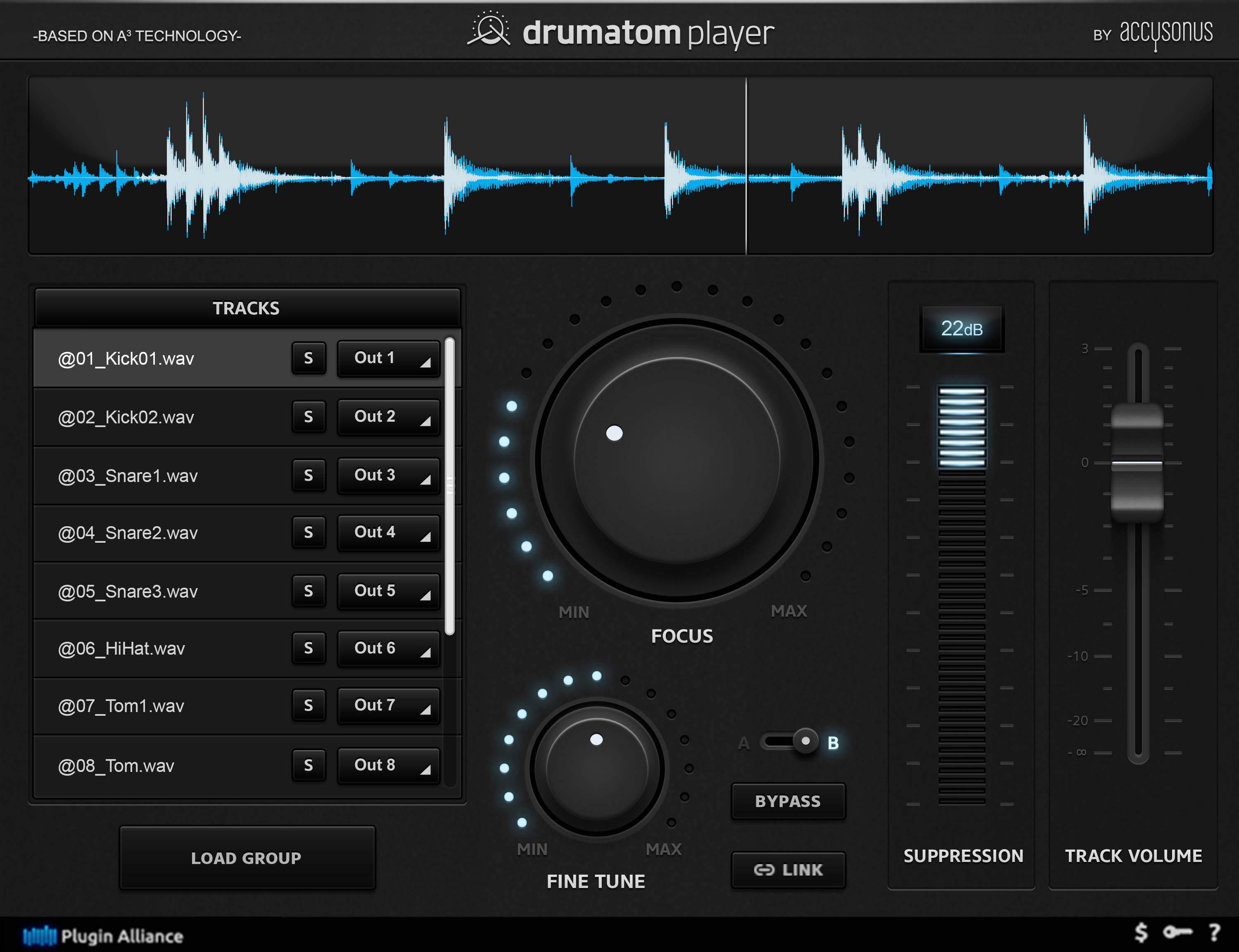 accusonus drumatom player plugin