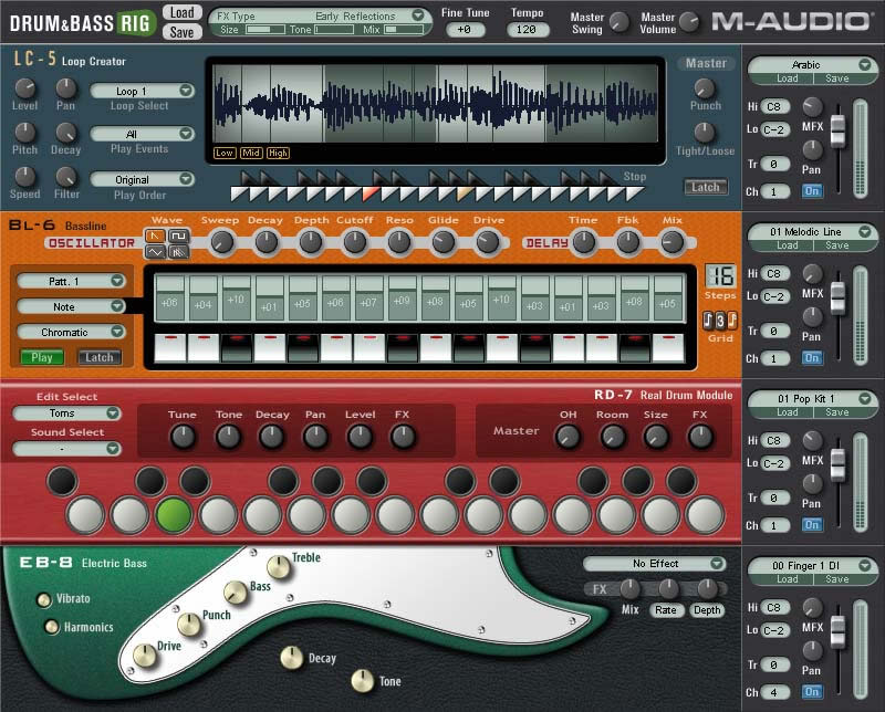 Virtual Amp Bass Product Drum Amp Bass Rig