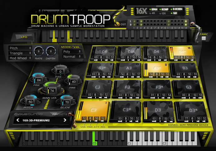 kvr drumtroop by dubturbo drum machine vst plugin and audio units plugin. Black Bedroom Furniture Sets. Home Design Ideas