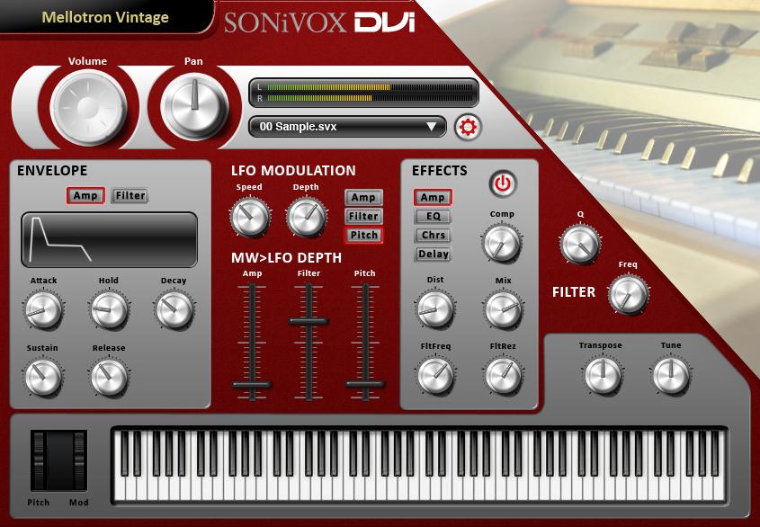 DVI Mellotron Vintage Synth