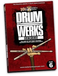 Drum Werks VI | Studio Rock, Pop Rock Drum Loops, Samples