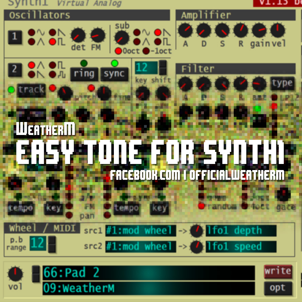 KVR: Easy Tone for Synth1 by WeatherM - Presets for Synth1