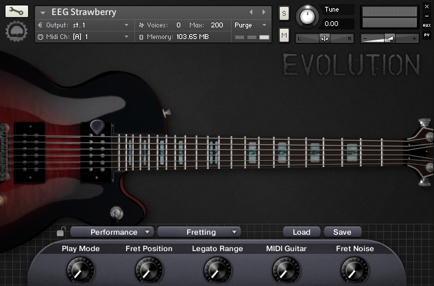 Evolution Electric Guitar Strawberry
