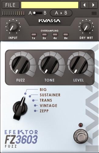 kvr efektor fz3603 fuzz by kuassa mp guitar effects vst plugin audio units plugin vst 3. Black Bedroom Furniture Sets. Home Design Ideas