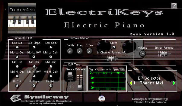 kvr electrikeys electric piano by syntheway virtual musical instruments piano keys vst. Black Bedroom Furniture Sets. Home Design Ideas