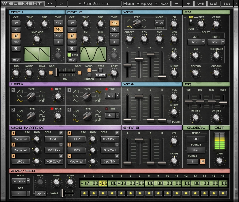 KVR: Element Virtual Analog Synthesizer by Waves - Synth VST