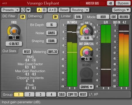 KVR: Elephant by Voxengo - Mastering Limiter VST Plugin