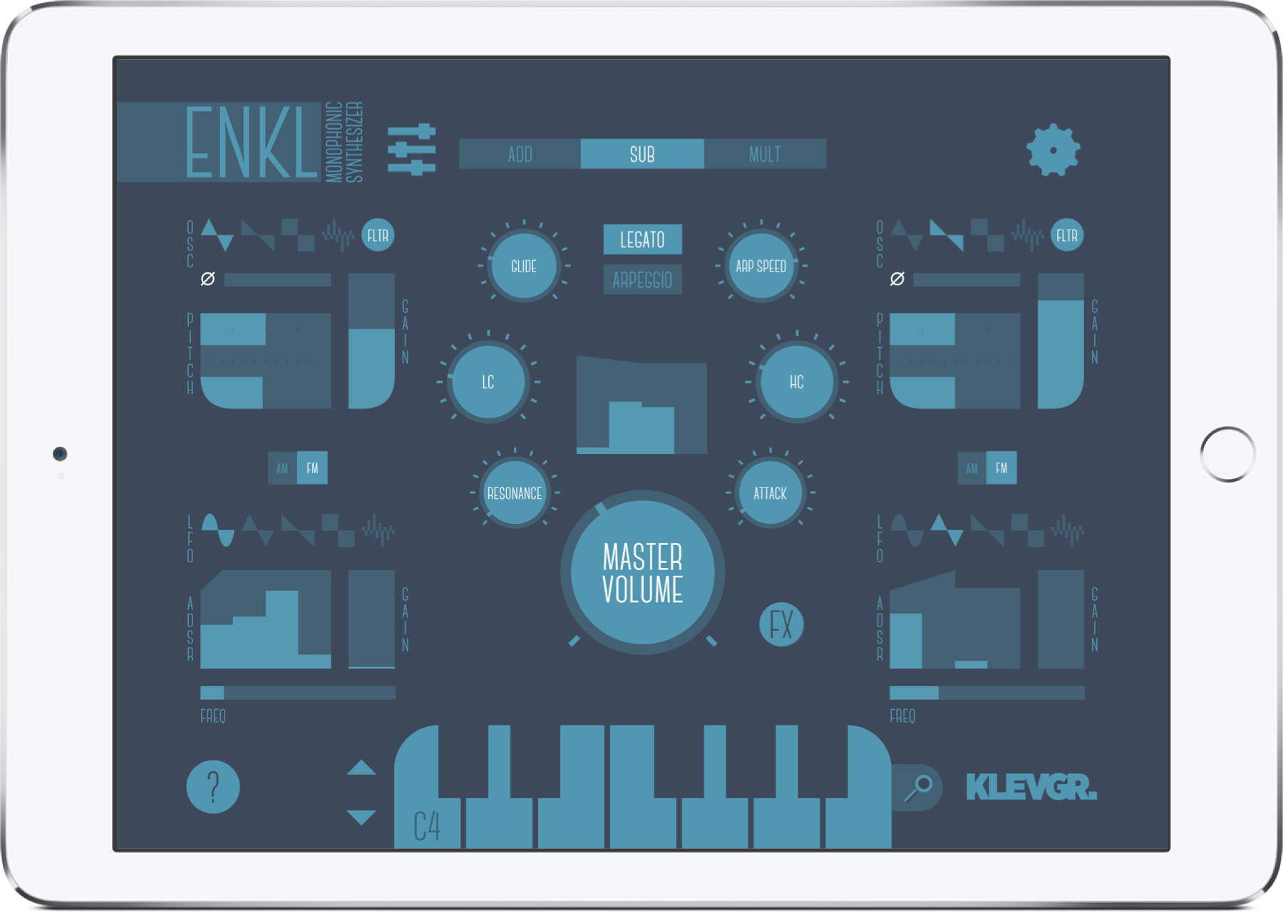 Enkl monophonic synthesizer
