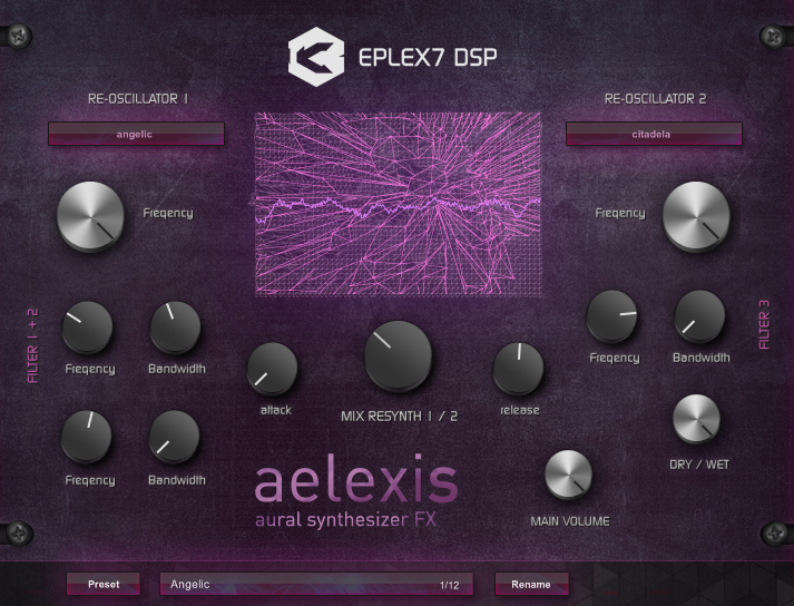 Eplex7 DSP Aelexis - Aural vocoding synthesizer effect