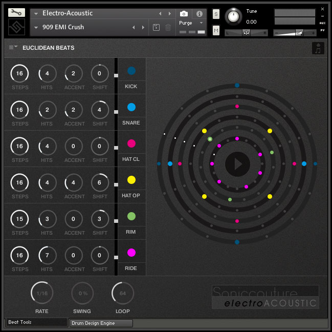 kvr soniccouture releases electro acoustic studio drum machines for kontakt player with intro. Black Bedroom Furniture Sets. Home Design Ideas