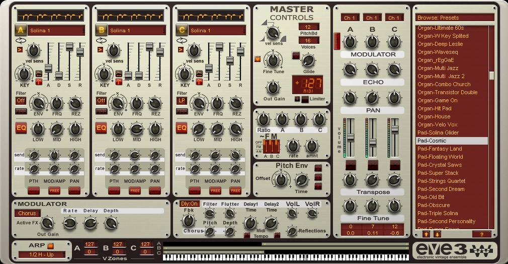 KVR: Wusik EVE - Electronic Vintage Ensemble by Wusik