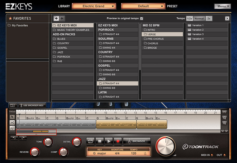 KVR: EZkeys Electric Grand by Toontrack Music - Piano VST Plugin, Audio Units Plugin, RTAS ...