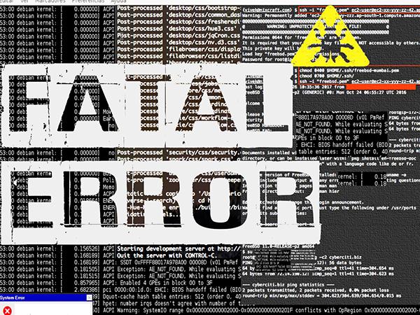 fatal error glitch percussion and effects
