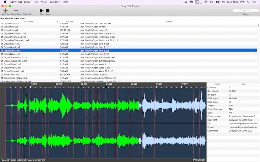 player audio per mac os x