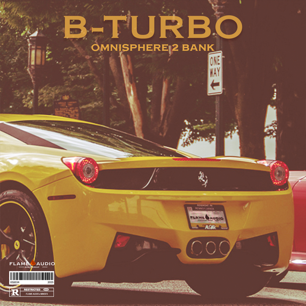 Flame Audio - B-Turbo - Omnisphere 2 Bank - Cover