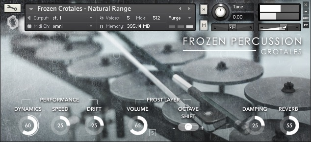Frozen Percussion: Crotales