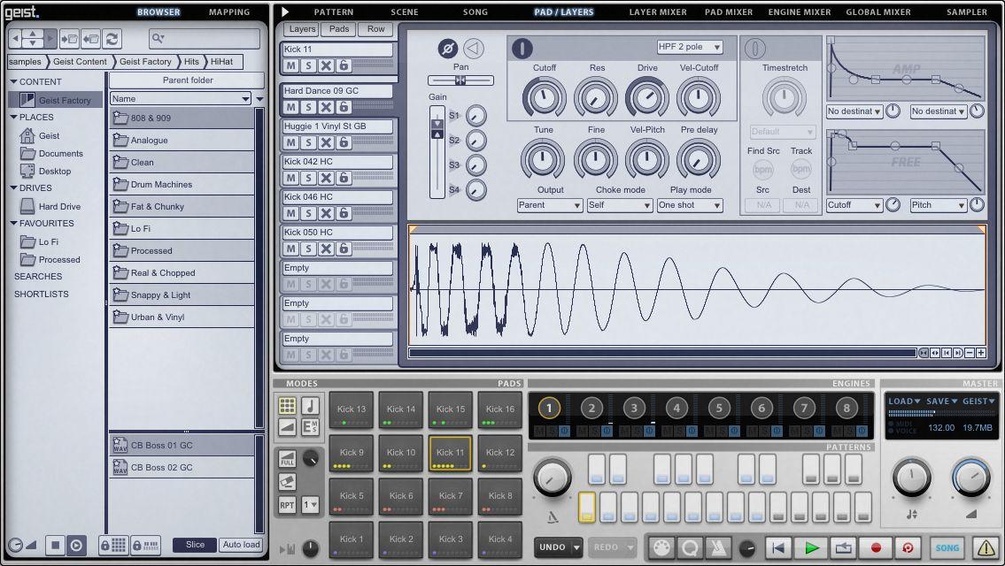 kvr fxpansion releases geist sampling drum machine. Black Bedroom Furniture Sets. Home Design Ideas
