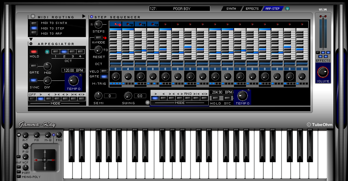 Kvr Tubeohm Releases Quot Gamma Ray Quot Vsti Synthesizer For Windows