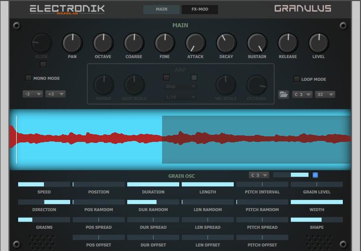 KVR: Granulus by Electronik Sound Lab - Granular sampler VST