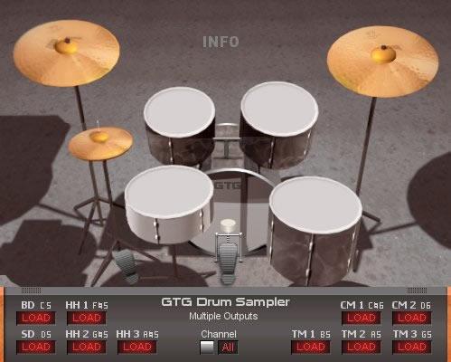 kvr gtg drumsampler i by gtg synths drum sampler vst plugin. Black Bedroom Furniture Sets. Home Design Ideas