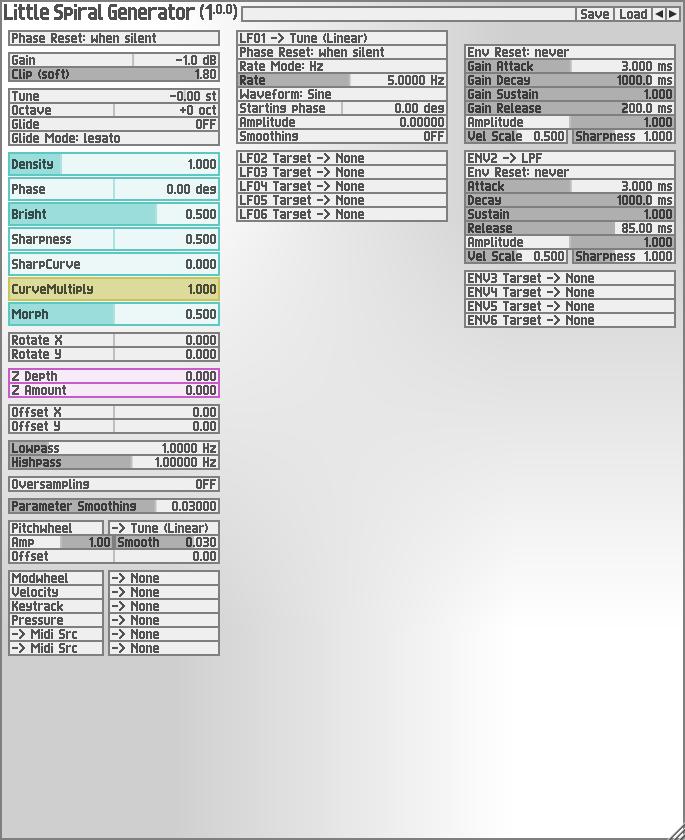 KVR: Little Spiral Generator by Soundemote - Synthesiser VST Plugin
