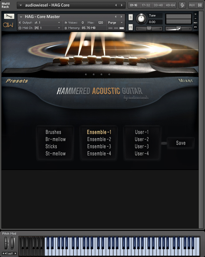 Hammered Acoustic Guitar (Full Bundle)