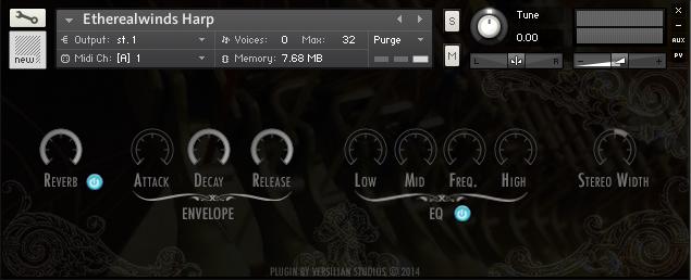 Etherealwinds Harp Kontakt UI